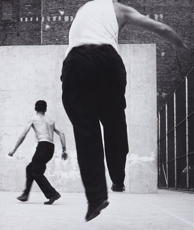 Leon Levinstein, 'Handball players, Houston Street, New York', 1970
