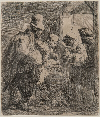 Rembrandt van Rijn, 'The Strolling Musicians', c. 1635-later 17th century impression