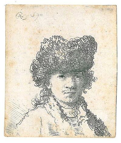 Rembrandt van Rijn, ' Self portrait in a fur cap      ', 1630