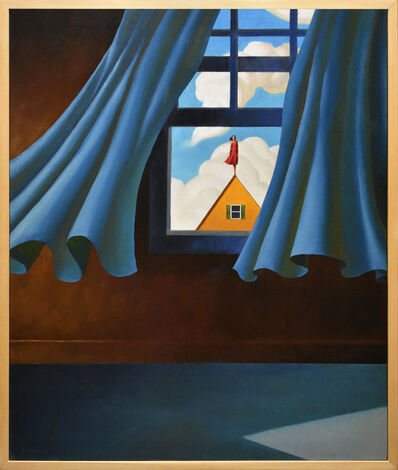 Rob Browning, 'Blue Curtains, Yellow House', 2018