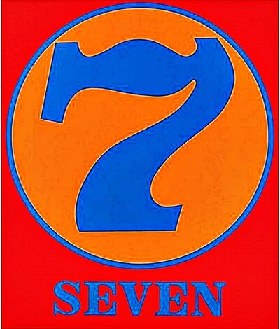 Robert Indiana, 'Seven (Sheehan, 52) framed with Dayton Art Institute Label verso', 1968