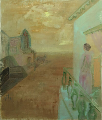 Leng Hong 冷宏, 'Overlooking in the sunset 樓臺影動斜陽里', 2019