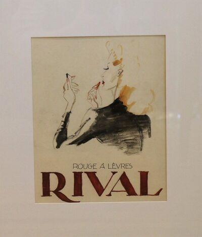 Léon Benigni, 'Advertising model for a Rival lipstick, by Leon Benigni', 1940-1949