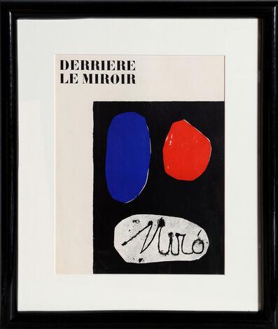 Joan Miró, 'Derriere le Miroir (Cover)', 1953