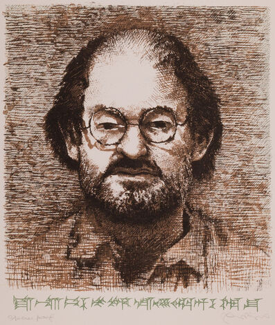 Tom Phillips, 'Salman Rushdie (from Ludlul Bel Nemequi: The Righteous Sufferer, c. 3500 B.C.)', 1993