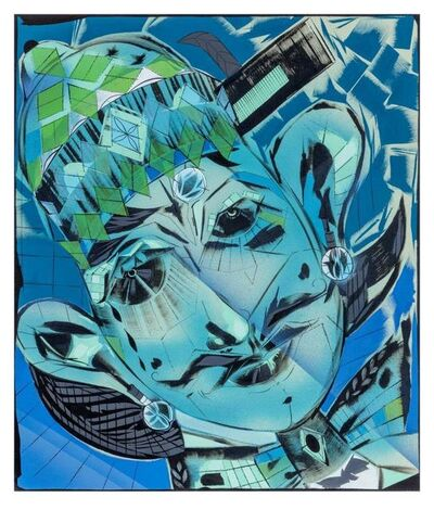 "Lari Pittman, '""Self-determination #3"" (blues)', 2017"