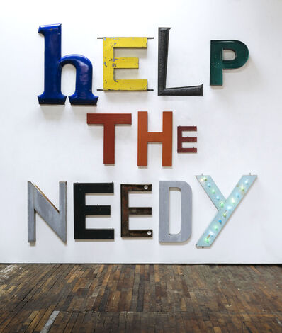 Jack Pierson, 'HELP THE NEEDY', 2019