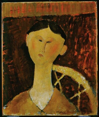 Amedeo Modigliani, 'Portrait of Mrs. Hastings', 1915