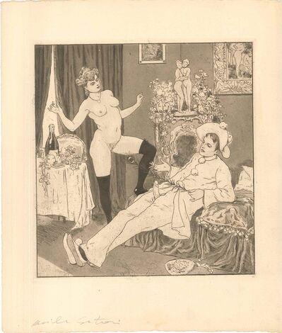 Emil Sartori, 'Erotic Scene I - Illustration', 1907