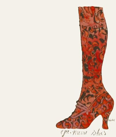 Andy Warhol, 'Gee, Merrie Shoes (Red)', ca. 1956