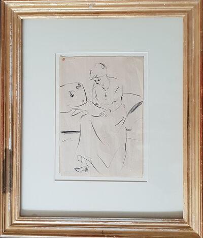 Lesser Ury, 'Drawing Study', ca. 1900