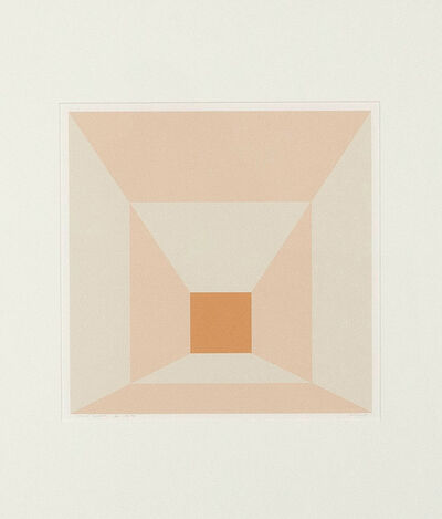 Josef Albers, 'Mitered Squares-Apricot ', 1976