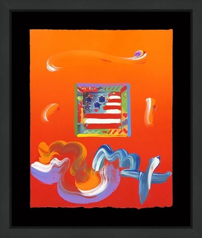 Peter Max, 'FLAG (OVERPAINT)', circa 2000