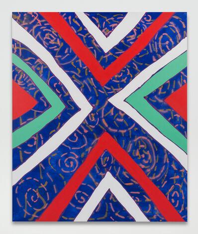 Sarah Cain, 'deep blue', 2016