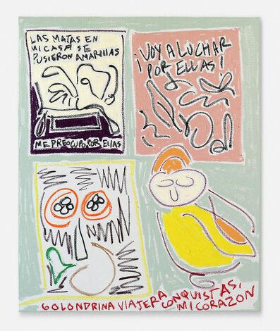 Nadia Hernández, 'Las matas en mi casa, golondrina viajera y cítricos (The plants in my house, traveling swallow and citrus)', 2019