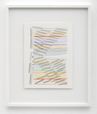 Jac Leirner, 'Linhas para Antonio Malta', 2016