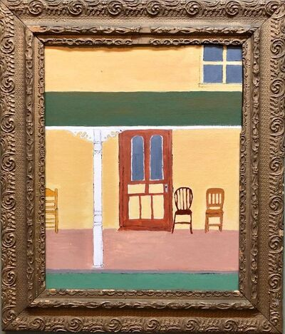 Gretchen Dow Simpson, 'New Yorker magazine Cover Oil Painting New England Porch Scene', 1970-1979