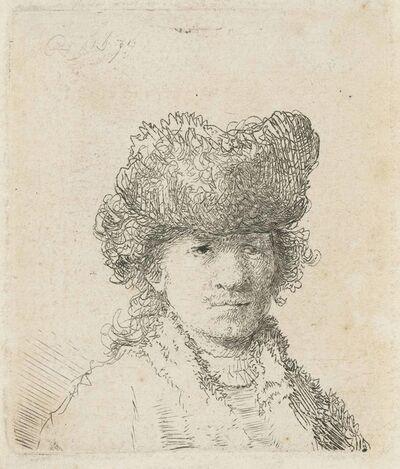 Rembrandt van Rijn, 'Self-Portrait in a Fur Cap: Bust', 1630