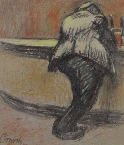 Norman Cornish, 'Man at bar iv', ca. 1970