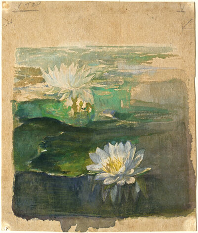 John La Farge, 'Small Study of Waterlillies', ca. 1879