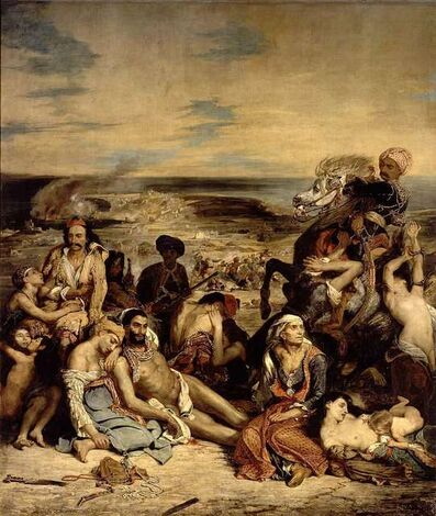 Eugène Delacroix, 'Scenes from the Massacre at Chios', 1822-1824