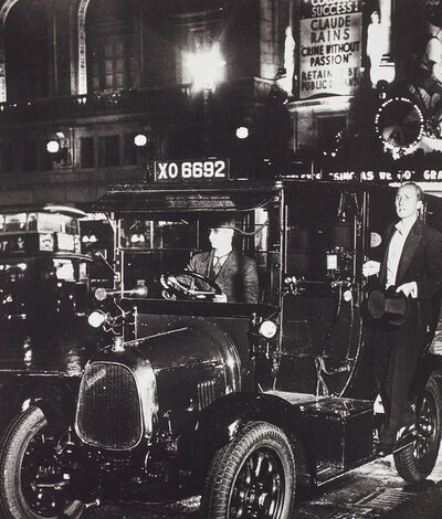 Bill Brandt, 'After the Theatre, Taxi in Lower Regent Street', 1934