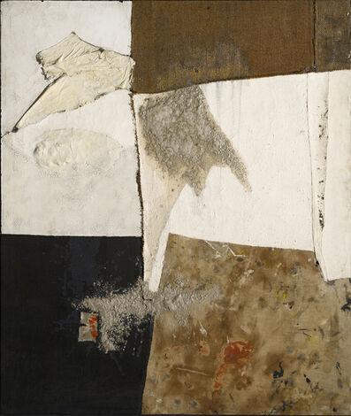 Alberto Burri, 'Nero bianco e sacco (Black White and Sack)', ca. 1954