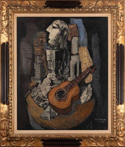 Ismael González de la Serna, 'Head and Guitar', 1927