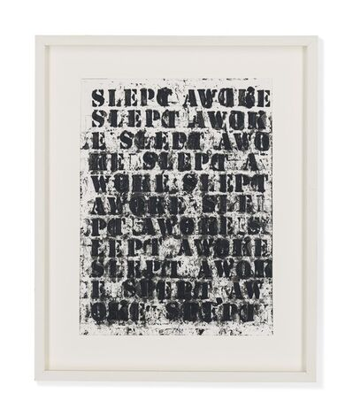 Glenn Ligon, '(miserable) life #8', 2008