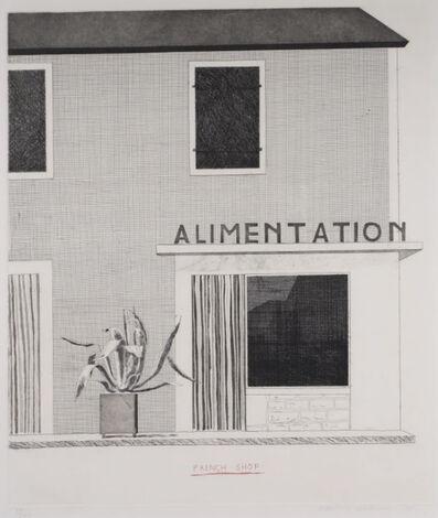 David Hockney, 'French Shop', 1971