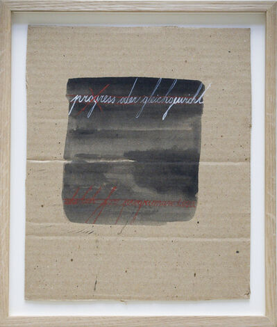 Mangelos, 'Progress oder Gleichgewicht', ca. 1970