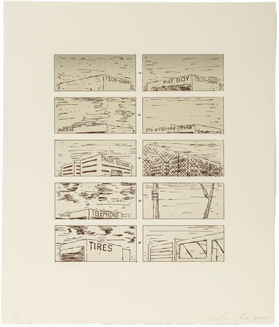 Ed Ruscha, 'Brown Course of Empire, State I', 2005