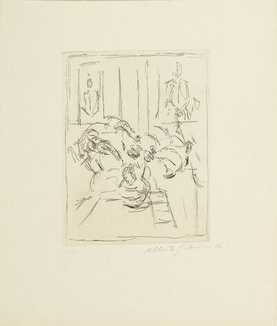 Alberto Giacometti, 'Bouquets aux deux portraits', 1955