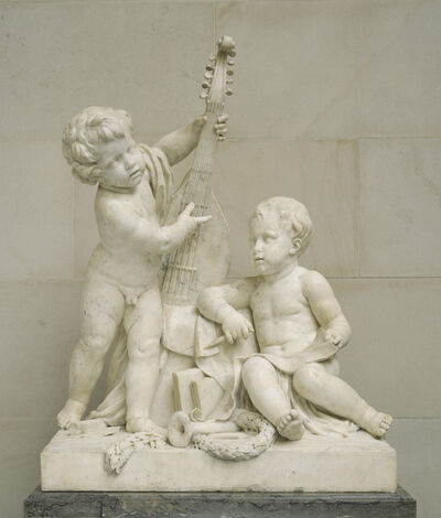 Clodion, 'Poetry and Music', ca. 1774/1778