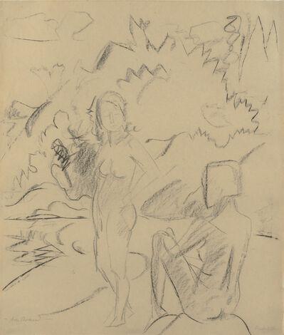 Erich Heckel, 'Am Strand', 1925