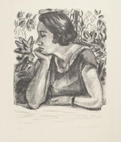 Henri Matisse, 'Visage de profil reposant sur un bras, paravent Louis XIV', 1924