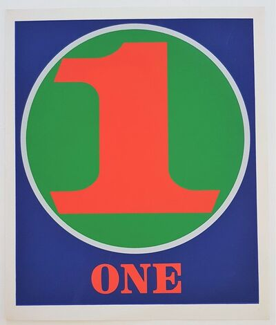 "Robert Indiana, 'Numbers Suite: ""One""', 1968"