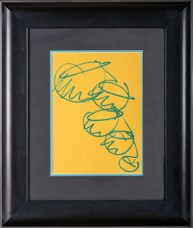 Dale Chihuly, 'Dale Chihuly Original Drawings Signed Custom Framed showing both Sides Best offer', 1990-2010
