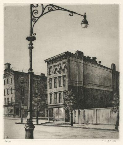 Armin Landeck, 'York Avenue Tenements', 1938