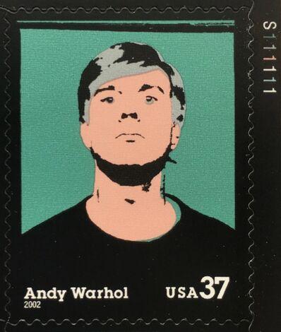 Andy Warhol, 'Commemorative Stamp Sheet feat. Warhol Self-Portrait', 2002