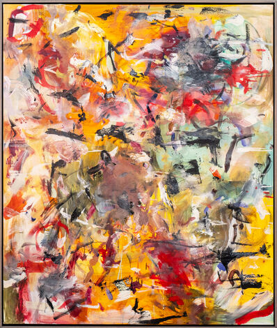 Scott Pattinson, 'Waken All - Large gold, red and black abstract painting', 2020