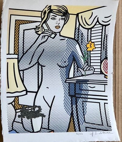Roy Lichtenstein, 'Nude with Yellow Flower (Standing Nude on Phone)', 1994