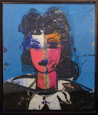 Manolo Valdés, 'Rostro Cuatricolor Sobre Azul', 2008