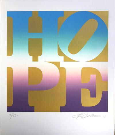 Robert Indiana, 'Summer, Four Seasons of Hope, Gold Portfolio', 2012