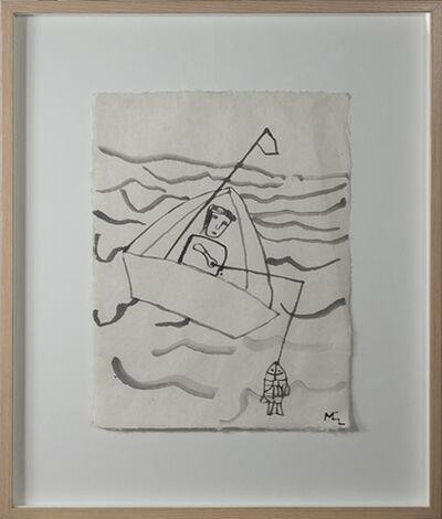 Miguel Castro Leñero, 'Fisherman in Boat', 1991