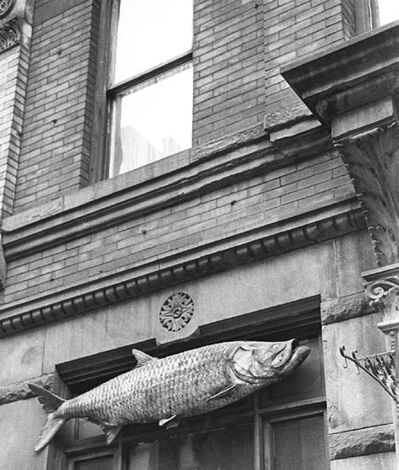 André Kertész, 'Fish Sign, New York City, NY', 1963