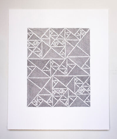 James Siena, 'Numbered Triangle Sequence', 2012