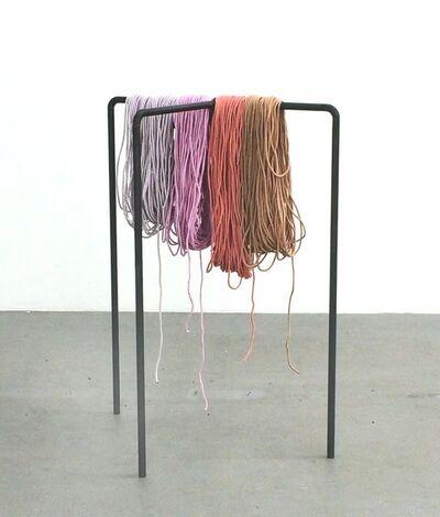 Ulla von Brandenburg, 'Drei Beine vier Schnüre', 2015
