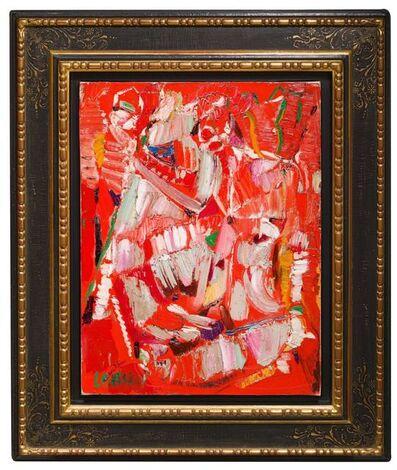 André Lanskoy, 'Composition sur Fond Rouge', Circa 1962