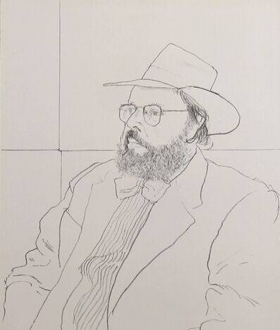 David Hockney, 'Henry Geldzahler with hat', 1976